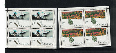 Two Block of Four MUH Canada Stamps Forest Theme.