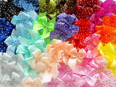 100! Pretty Polka Dot Bows - Great Colour Mix Bow Embellishments For Cardmaking!