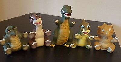 HTF LOT 5 Pizza Hut VINTAGE 1988 The Land Before Time HAND PUPPETS Vinyl SET