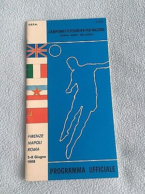 1968 European champioship official tournament programme UEFA Italy Euro 1968