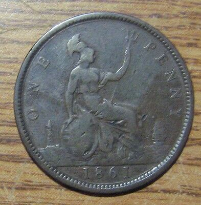 1861 Great Britain Penny Take a Look