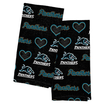 Penrith Panthers NRL Team Logo and Coloured Tea Towels (2 pack)