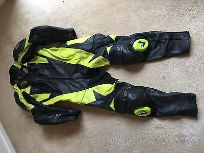 Mens one piece leather motorcycle race suit