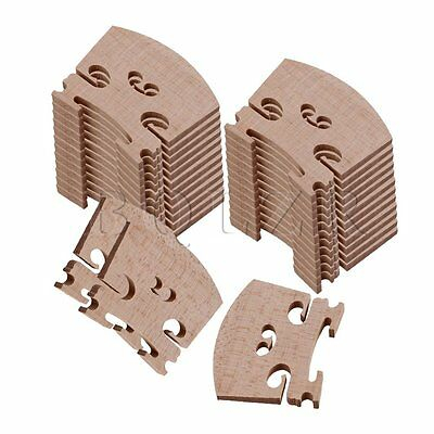30Pieces Burlywood Violin Fiddle Bridge for 4/4 Size Maple