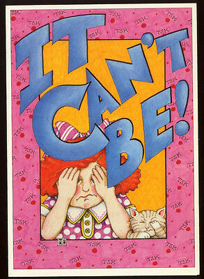 UNUSED 1992 Mary ENGELBREIT.  GET WELL Card IT CAN'T BE! REDHEAD GIRL +env