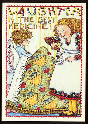 UNUSED 1983 Mary ENGELBREIT. GET WELL Card LAUGHTER IS THE BEST MEDICINE +env