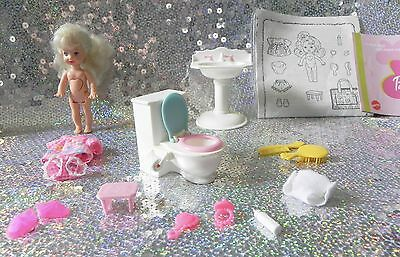 Barbie POTTY TRAINING KELLY Geh aufs Töpfchen Shelly 1996 Mattel RETRO 90er