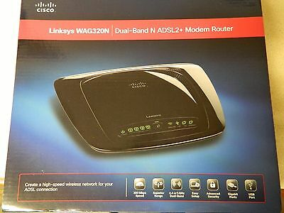 Linksys WAG320N Dual Band N ADSL2+ Modem Router