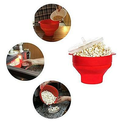 Silicone Microwave Popcorn Popper Maker Pop Corn Bowl Dishwasher Kitchen Tool B