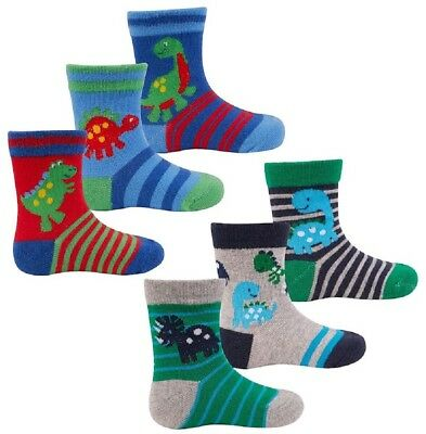 "3 pk ""Baby Boy socks"" Character Ankle Socks UK 0-24 months"