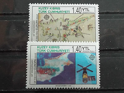 Série 2 timbres neuf Chypre (Turquie) 2006 : EUROPA CEPT (50 ans)