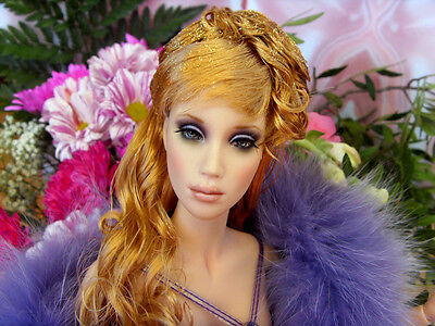 sybarite OOAK doll with the dress polyviolet