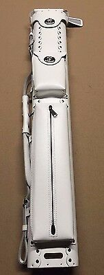 Vincitore 2x4 White Leather Pool Cue Case w/ FREE Shipping