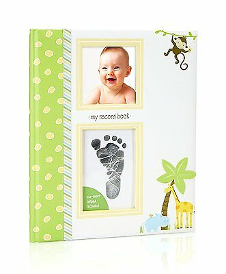 Lil Peach Safari Babybook with Clean Touch Ink Pad Included
