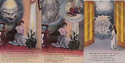 """WWI set of Bamforth postcards """"THE SONG THE ANGLES SING"""" 1909"""