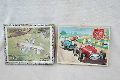 X2 Vintage Victory And Willtoys Wooden Jigsaw Puzzles.