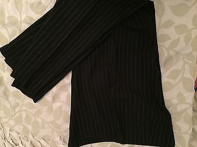 Pinstripe Beauty Uniform Tunic And Trousers Size 14