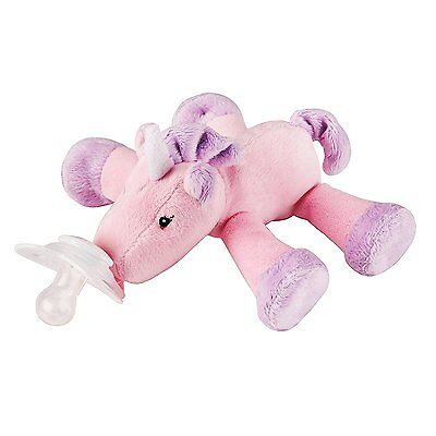 Nookums Paci-Plushies Unicorn Shakies - Universal Pacifier Holder and Rattle 2 1