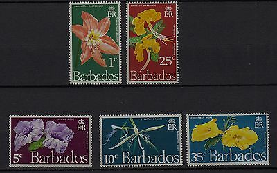 U70) x5 TIMBRES stamps BARBADES BARBADOS (Neuf**MNH TBE) Fleurs-Flowers