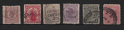 V66) Lot x6 TIMBRES stamps (Used-Oblitéré) New-Zealand /Classiques 1873...