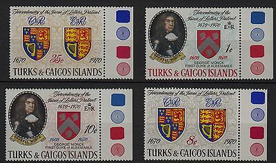 U98) x4 TIMBRES stamps (Neuf**MNH TBE) TURKS & CAICOS ISLANDS