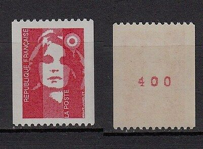81b** Timbre Neuf**MNH**TBE MARIANNE BICENTENAIRE 1993 roulette n°2819 (+n°rouge