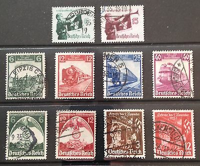 Germany Third Reich 1935 issues. Used