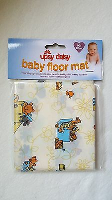 Upsy Daisy Baby Mat (Bears)  96x96cm - For Eating, Messy Play, Home or Travel.