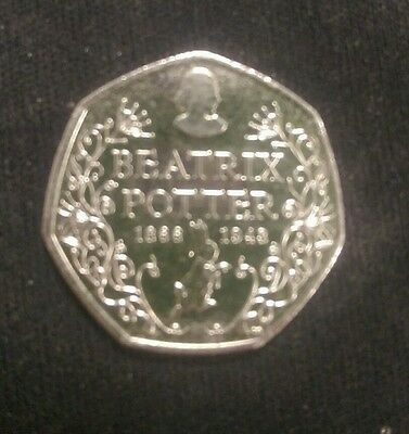 2016 BEATRIX POTTER 150 YRS RARE FIFTY PENCE 50p BRILLIANT CIRCULATED UK Coin