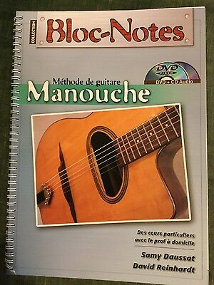 Bloc notes méthode de guitare manouche Samy daussat David Reinhardt