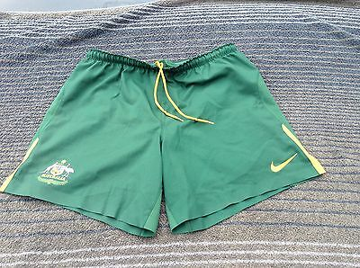 SOCCEROOS Player-issue Shorts S Soccer Football Shirt Jersey Top Nike AUSTRALIA