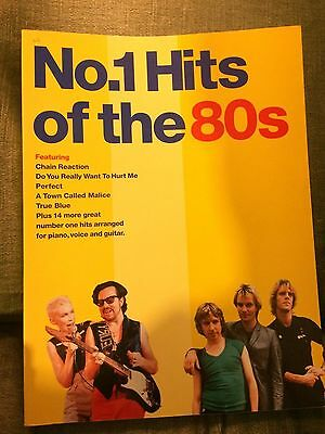 N°1 Hits of the 80s score partition chant piano accords