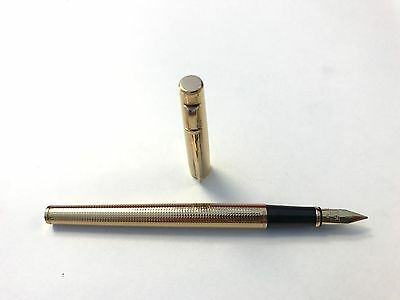 Brand New Authentic Caran d'Ache Madison Gold Fountain Pen Gold Plated 18C Nib