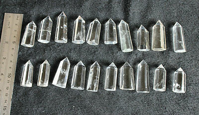 "20 Small Natural Clear Quartz Crystal Points Polished Healing 1.5-2.0"" ."