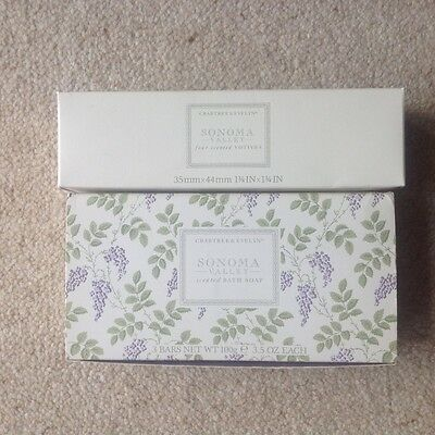 Crabtree and Evelyn Sonoma Valley soaps and votives gift boxed