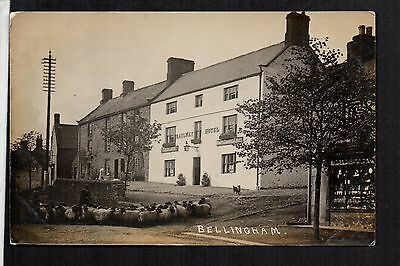 Bellingham - Railway Hotel - real photographic postcard