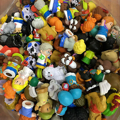 Fisher Price Little People - Random Lot 25pcs People & Animals Mix Figure Toy