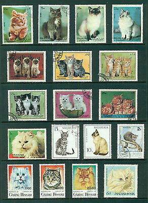 CAT STAMPS -  mostly in mint Cancelled to Order sets (90 stamps)