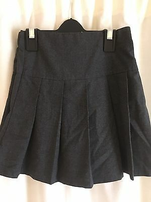 M&S Grey Pleated School Skirts (pack of two) Adjustable Waists Size 5-6 Years