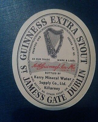 Irish beer label Guinness bottled in Killarney.