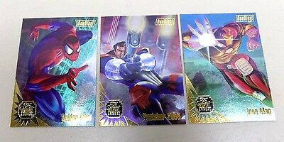 1995 Marvel Flair Duoblast Insert Complete Card Set -  Spiderman, Punisher - NM