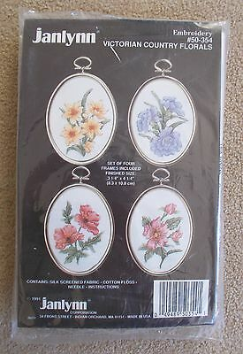 VINTAGE JANLYNN EMBROIDERY KIT - Victorian Country Florals