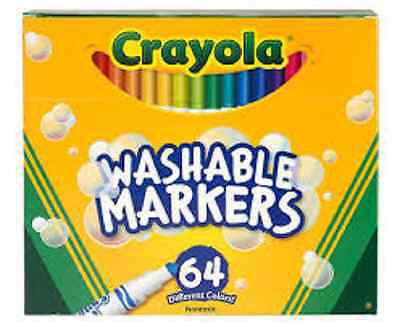 Crayola 64-Pack Short and Skinny Washable Markers