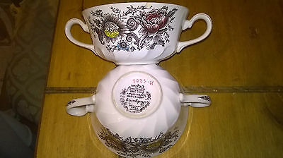 2 X Ridgway Ironstone Staffordshire Clifton Cups?soup Bowls?