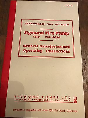 Green Goddess Fire Engine Sigmund Fire Pump Manual