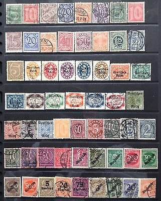 Germany 1920-1923 Official issues. Mint & Used.