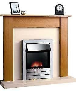 fire place surround and electric fire
