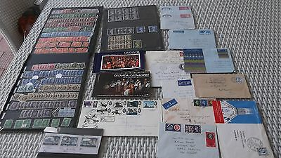 Mixed lot of used  UK stamps - George V1,QE 11 10/- (538), Grenada mint booklet