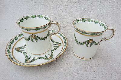 Two Vintage Hammersley London Cabinet Cups And A Saucer