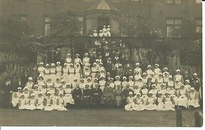 Yorkshire,  Nurses And Other Staff Outside Unknown Hospital, Photo Postcard